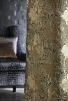 Striking fabrics from the new T2 collection by Warwick Fabrics #fabric #upholstery #chair #gold #glitz #interior #furnishingfabric # texture #