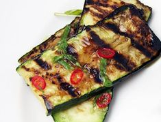 It's best to let the flavor of the zucchini develop slowly on a not-too-hot grill, lending a wonderful, almost fried flavor.