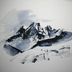 3 946, Céline Lorentz Celine, Mount Everest, Nature, Travel, Painting, Mountain, Naturaleza, Viajes, Painting Art