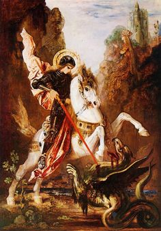 Saint George and the Dragon, 1870-89 by Gustave Moreau