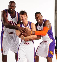 Shaquille O'Neal, Steve Nash and Amare Stoudemire 2008