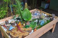 Dinosaur Garden, Dinosaur Play, Dinosaur Small World, Small World Play, Sensory Table, Sensory Bins, Dinosaurs Preschool, Dinosaur Activities, Kid Activities