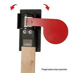 Handgun Paddle Target : STEEL PADDLE TARGETS W/RECTANGULAR STOP PLATE | Police Store