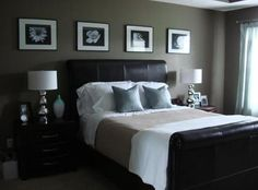 Master bedroom with dark furniture decorating ideas & Pictures - http://www.beautifulhomesnc.com/2015/12/master-bedroom-with-dark-furniture-decorating-ideas-pictures.html
