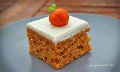 Tökös sütemény recept Krispie Treats, Rice Krispies, Kefir, Baby Food Recipes, Vanilla Cake, Paleo, Food And Drink, Sweets, Kuchen