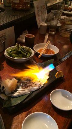 Seared mackerel for dinner, Izakaya Restaurant Shimokitazawa, Tokyo