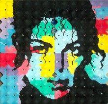 Claude THIEL DE NEUVILLE (1949) - Portrait de Michael Jackson