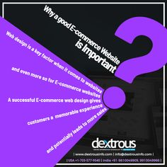 Dextrous Infosolutions is an Ecommerce website development company in Noida, India providing Ecommerce website design and development solutions in USA, UK, Europe and other countries. How To Memorize Things, Things To Come, Ecommerce Website Design, Website Development Company, Best Web Design, Success, India, Key, Touch