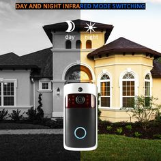 Video DoorBell Wireless WiFi Security Smart Video Door Phone Smart Wireless WiFi Security Consumption Remote Home Monitoring Night Vision Smart Framed Wallpaper, Intercom, Home Camera, Card Storage, Home Security Systems, Sound & Vision, Night Vision, Wifi
