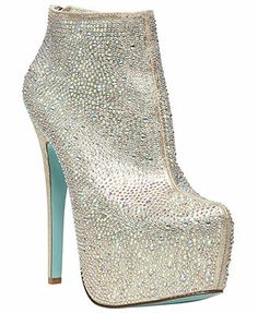 Blue by Betsey Johnson Bride Platform Evening Booties