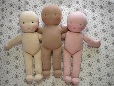 Step by step on making Waldorf dolls