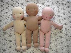 Step by step on making Waldorf dolls