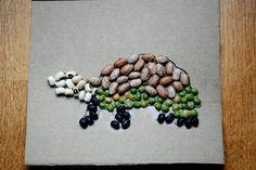 Summer Fun: bean art projects from Harriet's Haven
