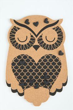 Owl cork board