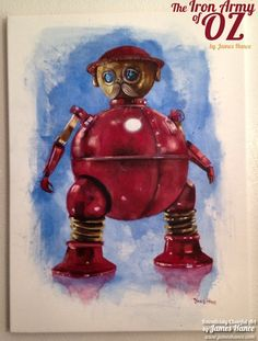 Iron+Man+mashed+up+with+Tik-Tok+from+Return+to+Oz+.+    Artist:+James+Hance I wish i had this!!