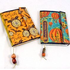 Been having fun making mini journals for my Etsy store.  I take small composition books that I get at the dollar store.  Then I reduce down my art works or vintage post cards and make lots of envel…