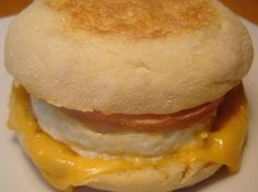 Sausage egg McMuffin from McDonalds