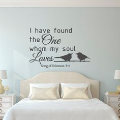 Love Wall Decal Quote Song Of Solomon 3:4 Bible by FabWallDecals #valentine'sday #gift