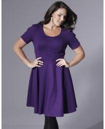 """Glamorosa"" Glamorosa Skater Dress, Very Voluptuous Fit at Simply Be... this dress works SOOOOOOOOO well for me!"