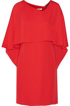 Halston Heritage Cape-back georgette mini dress | NET-A-PORTER