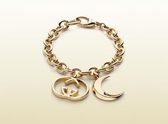 bracelet with half moon and interlocking G motif ch ...