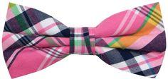 OCIA Mens Cotton Plaid Handmade Bow Tie -OM77