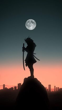 Samurai Silhouette iPhone Wallpaper - iPhone Wallpapers