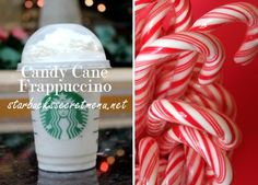 Enjoy a Starbucks Secret Menu Candy Cane Frappuccino any time of the year! Recipe here: http://starbuckssecretmenu.net/starbucks-secret-menu-candy-cane-frappuccino/