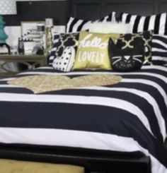 Please help me I want this soo badly please help it's a gold heart and black and white striped comforter set.