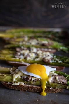 Asparagus and Mushroom Toast   Sweet-Remedy.com