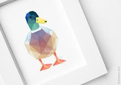Geometric duck - If not my favorite, it's VERY close to it.  I'd LOVE this as a tattoo.  <3