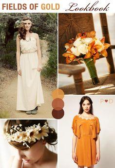Fields of gold fall wedding inspiration.