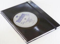 Notizbuch aus Schallplatte Peter Maffay Vinyl  von VinylKunst Aurum - Schallplatten Upcycling der besonderen ART auf DaWanda.com