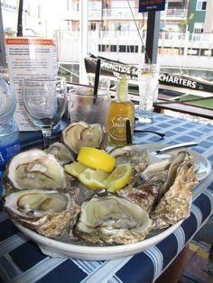 Oysters - a treat on a hot day in Knysna. I spend a whole day having wine and eating oysters, one of the best days of my life. South Restaurant, Seafood Restaurant, Oyster Festival, Knysna, Port Elizabeth, South African Recipes, Kwazulu Natal, Out Of Africa, Cape Town
