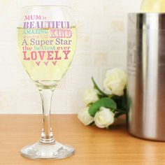 Personalised Wine Glass - She Is Design #kitchengiftco