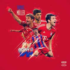 Thomas Muller, Bayern München, sport illustration, poster, graphic, social, design, football, illustration, media, AREDI, #sportaredi