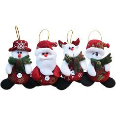 2016 Merry Christmas 4pcs/lot Red Santa Pendant Christmas Tree Hanging Ornaments Crafts for Home Decor Supplier SD206-in Christmas from Home & Garden on Aliexpress.com | Alibaba Group
