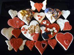 Galletas San Valentín Garden S, Sugar, Cookies, Cake, Desserts, Food, Valentines, Pies, Crack Crackers