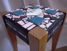 Mosaic tiled stool http://kirasaya.com