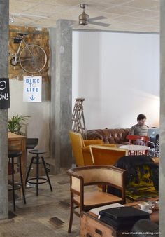 La Bicicleta Café & Workplace Madrid by madridcoolblog.com