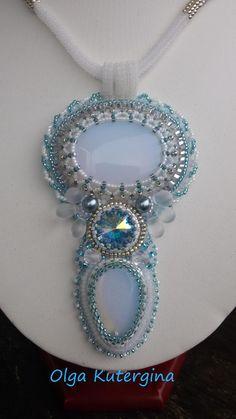 Bead Embroidery Jewelry, Beaded Embroidery, Beaded Jewelry, Handmade Jewelry, Seed Bead Necklace, Beaded Necklace, Pendant Necklace, Bead Crafts, Pendants