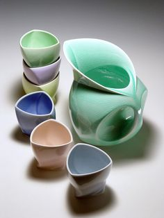 Modern Design Porcelain by David Pier, Pottery of the Future Available Today