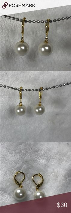 10 mm Genuine TAHITIAN BLACK South Sea Shell Pearl Silver Hook Boucles d/'oreilles
