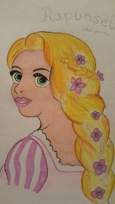 Rapunsel drawing My Drawings, Disney Characters, Fictional Characters, Aurora Sleeping Beauty, Disney Princess, Art, Art Background, Kunst, Performing Arts
