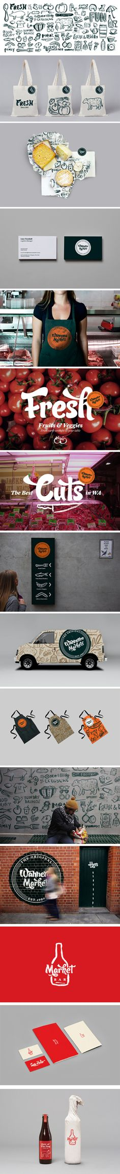Let's go shopping at Waneroo Market #identity #packaging #branding PD