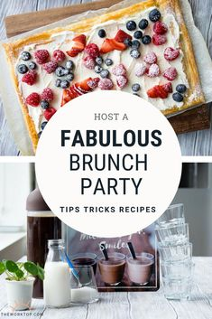 Want to host a fabulous brunch party and need some inspiration? Find brunch party ideas, including food and menu. Hosting brunch can be easy and effortless! Ideas on The Worktop.    #brunch #brunchparty #theworktop