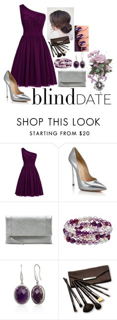 """blind date #2"" by myamane ❤ liked on Polyvore featuring Casadei, Sole Society, Honora, Belk & Co., NARS Cosmetics and Borghese"