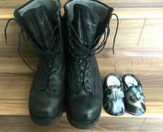 Daddy and me Toddler Moccasins, Baby Moccasins, Combat Boots, Daddy, Pairs, Leather, Shoes, Zapatos, Shoes Outlet