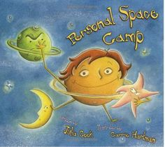 """Personal Space Camp"" by Julia Cook. Louis the main character is very keen on learning about outer space and is totally  naive about respecting people's personal space. So when he is asked to attend the personal space camp, Louis is thrilled imagining himself already flying through space. Little does he know how different the personal space camp is from outer space! A highly entertaining story spiced with wit and humor to help children understand what personal space is all about."