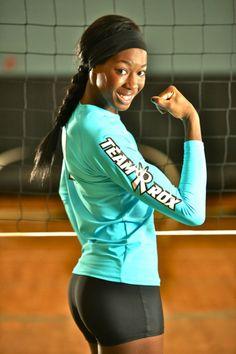 54f9826de20 Destinee Hooker USA Indoor Volleyball Ατάκες Για Το Βόλεϊ, Αθλητικά Ρούχα,  Sport Outfits,
